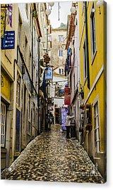 Sintra Street Acrylic Print by Deborah Smolinske