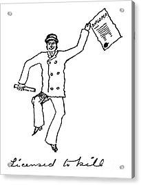 Sir Arthur Conan Doyle Acrylic Print by Granger