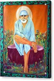 Sirdi Wale Sai Baba Acrylic Print by M bhatt