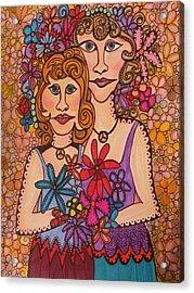 Sisters Of Peace  Acrylic Print by Gerri Rowan