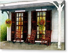 Sit A Spell  Acrylic Print by Janine Riley