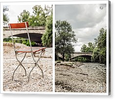 sit down... white I Acrylic Print by Hannes Cmarits
