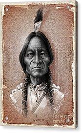 Sitting Bull Acrylic Print by Andre Koekemoer