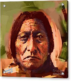 Sitting Bull Acrylic Print by Arne Hansen