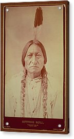 Sitting Bull, Sioux Chief, C.1885 Bw Photo Acrylic Print by David Frances Barry