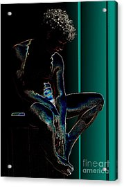 Sitting In The Turquoise Sun Acrylic Print by Robert D McBain