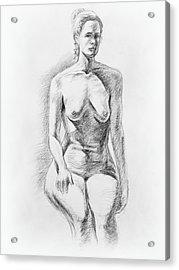 Sitting Model Study Acrylic Print by Irina Sztukowski