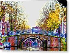 Six Bridges Acrylic Print by Pravine Chester