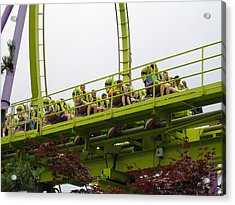 Six Flags Great Adventure - Medusa Roller Coaster - 12121 Acrylic Print by DC Photographer
