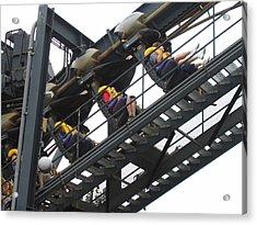 Six Flags Great Adventure - Medusa Roller Coaster - 12123 Acrylic Print by DC Photographer