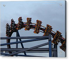 Six Flags Great Adventure - Medusa Roller Coaster - 12127 Acrylic Print by DC Photographer