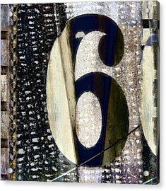 Six On The Line Acrylic Print by Carol Leigh