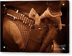 Six Shooter Acrylic Print by Nicholas  Pappagallo Jr