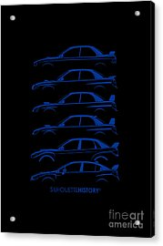 Six Stars Silhouettehistory Acrylic Print by Gabor Vida