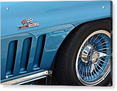 Sixty Six Corvette Roadster Acrylic Print by Frozen in Time Fine Art Photography