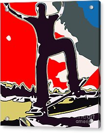 Skateboarder Acrylic Print by Chris Butler