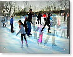 Skaters Acrylic Print by Diana Angstadt