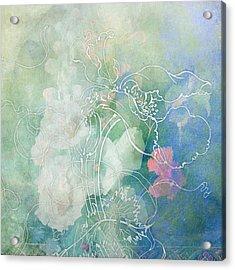 Sketchflowers - Hollyhock Acrylic Print by Aimee Stewart