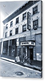 Skid Row Hotel Acrylic Print by Gregory Dyer