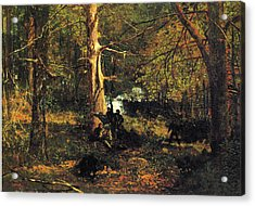 Skirmish In The Wilderness Acrylic Print by Winslow Homer