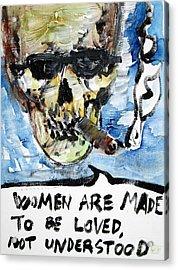 Skull Quoting Oscar Wilde.6 Acrylic Print by Fabrizio Cassetta