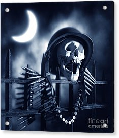 Skull Acrylic Print by Tony Cordoza