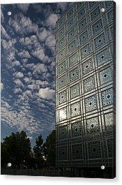 Sky And Building Acrylic Print by Gary Eason