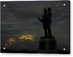 Sky Fire - 73rd Ny Infantry 4th Excelsior 2nd Fire Zouaves - Summer Evening Thunderstorms Gettysburg Acrylic Print by Michael Mazaika