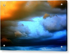 Sky In Peril Acrylic Print by Andrea Lawrence