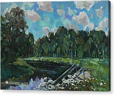 Sky In The River Acrylic Print by Juliya Zhukova