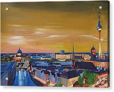 Skyline Of Berlin At Sunset Acrylic Print by M Bleichner