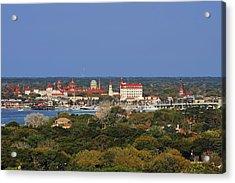 Skyline Of St Augustine Florida Acrylic Print by Christine Till