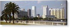 Skyline Tampa Fl Usa Acrylic Print by Panoramic Images