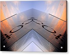 Skynet Building In Glass  Acrylic Print by Toppart Sweden