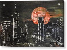 Skyrise Moon Acrylic Print by PainterArtist FIN