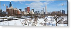 Skyscrapers In A City, Grant Park Acrylic Print by Panoramic Images