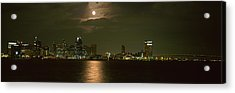 Skyscrapers Lit Up At Night, Coronado Acrylic Print by Panoramic Images