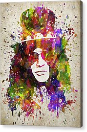 Slash In Color Acrylic Print by Aged Pixel