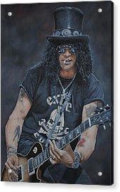Slash Live Acrylic Print by David Dunne