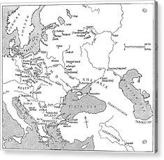 Slavic Population Map Acrylic Print by Granger
