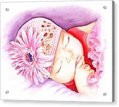 Sleeping Baby Acrylic Print by Irina Sztukowski