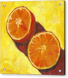 Sliced Grapefruit Acrylic Print by Marlene Lee