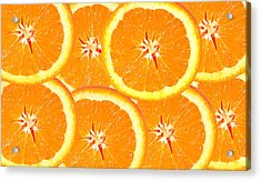 Slices Of Citrus Acrylic Print by Cecil Fuselier
