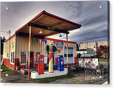 Slider's Cafe Acrylic Print by Eddie Yerkish
