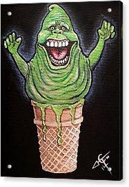 Slimer Cone Acrylic Print by Tom Carlton