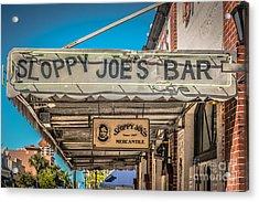 Sloppy Joe's Bar Canopy Key West - Hdr Style Acrylic Print by Ian Monk