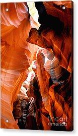 Slot Canyon Abstract 6 Acrylic Print by Linda  Parker