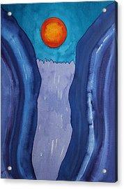 Slot Retablo Original Painting Acrylic Print by Sol Luckman