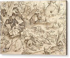 Sloth Pieter Bruegel Drawing Acrylic Print by