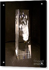 Slow Boil Crystal Sculpture 6 Acrylic Print by Dia T